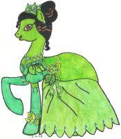 MLP: FiM Disney Princess Tiana by CooperGal24
