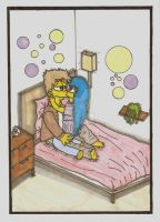 Homer And Marge As Teenagers by ChnProd22