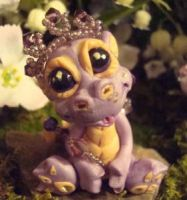 polymer clay dragon twizzle by crazylittlecritters