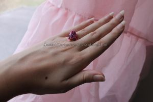 Pink and purple ring by Rongxing Jewelry III by QueenWerandra