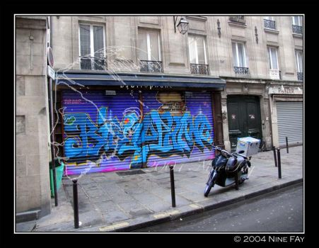 Paris Graffiti One by 9Fay