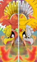 Ho-oh + Shiny Ho-oh Bookmarks by Cachomon