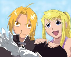 Edward Elric and Winry Rockbel by Lecyk