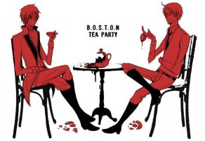 Hetalia: B.o.s.t.o.n teaparty by waterylt