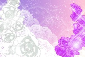 .:Flowers Pastel Lace BG:. by MamuEmu