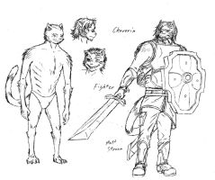 Reference: Chaverin Race, Fighter Class by Faullyn