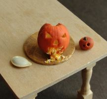 1:12 Scale Puking Pumpkin by fairchildart