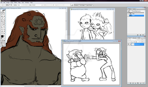 Sketchdump- Ganondorf and more by Anilede