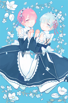 Rem and Ram by reddii