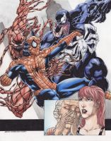 Spider man Vs Venom Carnage  C by JesterretseJ