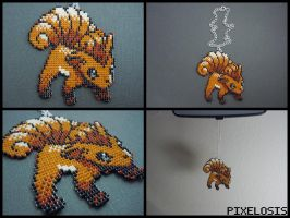 Vulpix Car Charm by Pixelosis