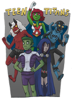 Teen Titans by Cup-Kayke
