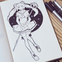 Magical Girl - Inktober 10/31 by LonelyFullMoon