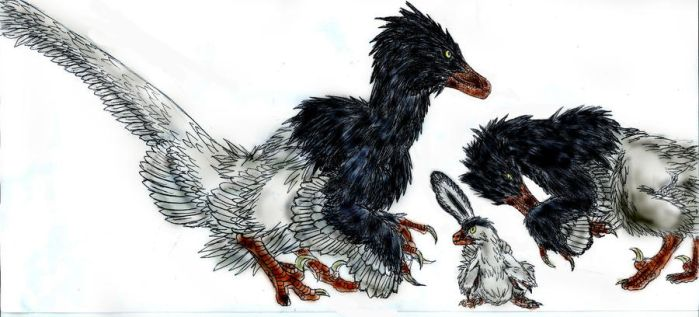 Velociraptor family by Durbed