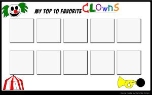 Top 10 Favorite Clowns by SithVampireMaster27