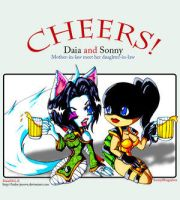 :::+Cheers+:::Daia and Sonny by Anthrolicious