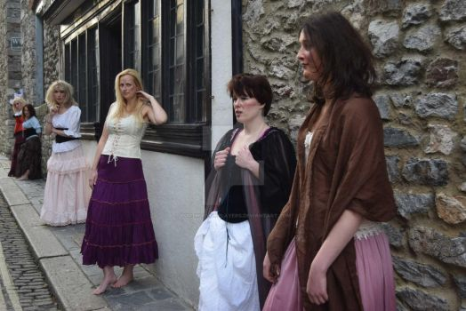 Filming with the whores and Fantine - by southdevonplayers