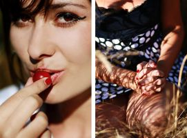 summer wears a red lipstick by antonina-w-ogrodzie