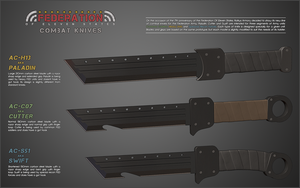 Federation Combat Knives by cr8g