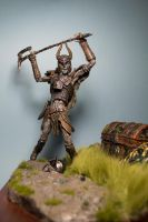 Draugr Deathlord close up (front) by MichaelEastwood