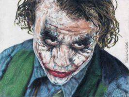 The Joker- Heath Ledger by mauricio17