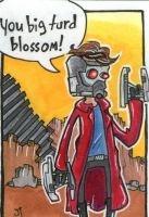 Star Lord sketch card by johnnyism