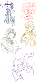 SKETCH: 5 requests - PART ONE! by lewisrockets