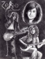 Jimmy Page--Fan Art by GaladrielRobinson