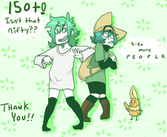 150+ Watchers! (THANK YOU!) by J-Ecstas