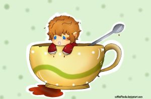 Tea Cup Hobbit by xxMiniPandaxx