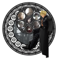 Cloud Strife Stained Glass by rok-sas