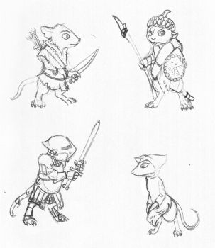 Mousy Sketches by Bergiloh