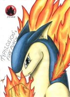 Typhlosion's FIRE PUNCH by Acrof