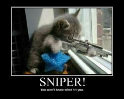 Sniper demotivational poster by Stickbomber