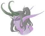 Giveaway prize - Illidan headshot by bylacey
