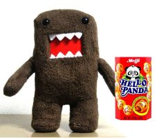 Domo loves Hello Panda snacks by KuroChanZ