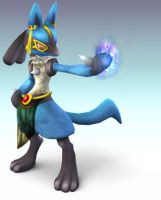 Anubis Lucario by Wolfgerlion