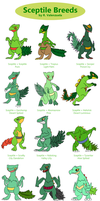 Sceptile breeds by yoshiky