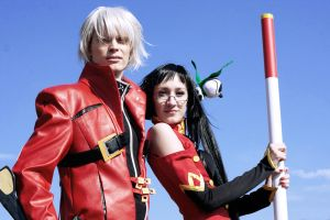 Blazblue - Litchi and Ragna by tajfu