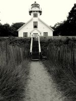 Old Mission Lighthouse by oceanbetween