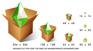 .PACKAGE File Type Icon: The Sims 2 by asianaphrodite