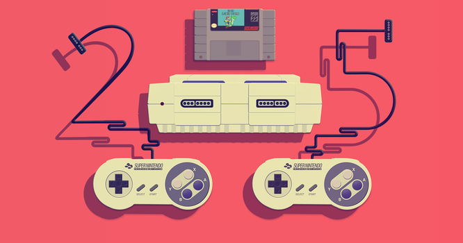 Super Nintendo 25 years for Rolling Stone Magazine by Andymemu