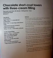 Chocolate Pastry Tower Recipes by claremanson