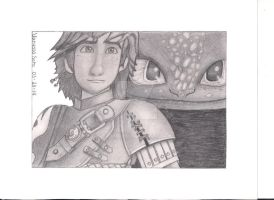 Hiccup and Toothless- Httyd 2 (Re-do) by aquavanessa27