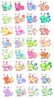 Luck monster:adopts*price lowered by bunniiadopts