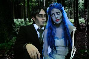 Emily and Victor Van Dort - Corpse Bride Cosplay by BabiSparrow