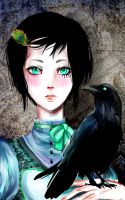 The Crow and the Peacock by Khana-Shimmi