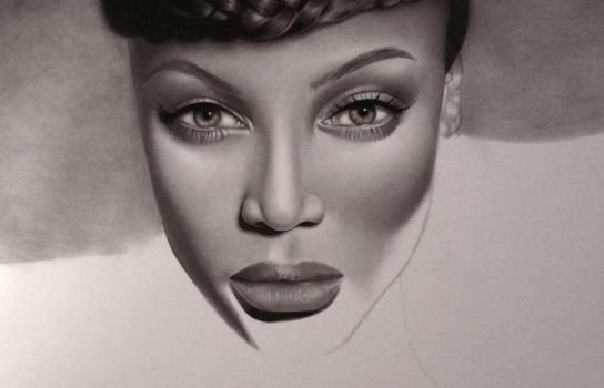 Tyra Banks WIP 3 by PriscillaW