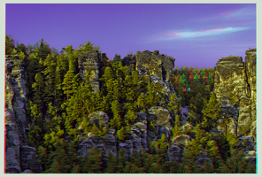 The Bastei rock formation ::: DRi Anaglyph 3D by zour
