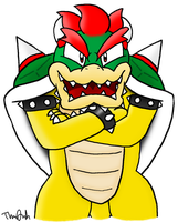 Bowser - Bust Shot by Assassin--Knight